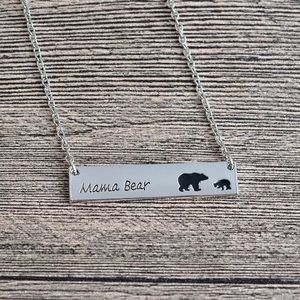 3/$30 🎉 Mama Bear Silver Plated Mom Necklace